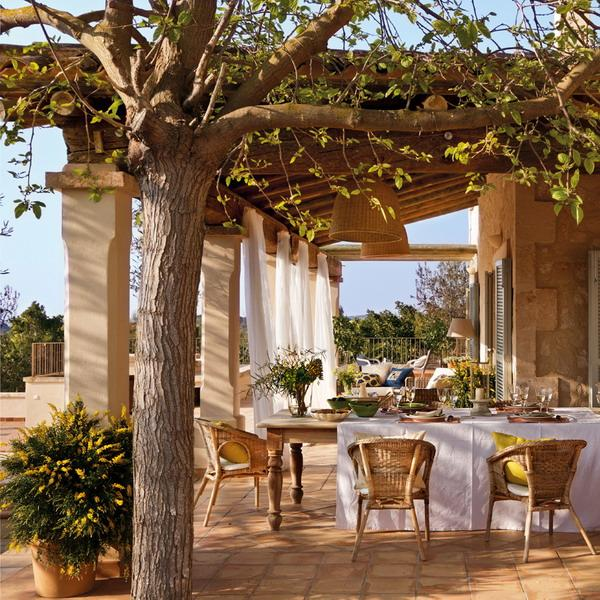 Interior Spanish Style Homes: Classic Patio Ideas In Mediterranean Style