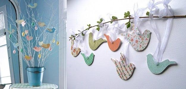 22 spring decorating ideas and crafts to refresh home for Handmade home decorations
