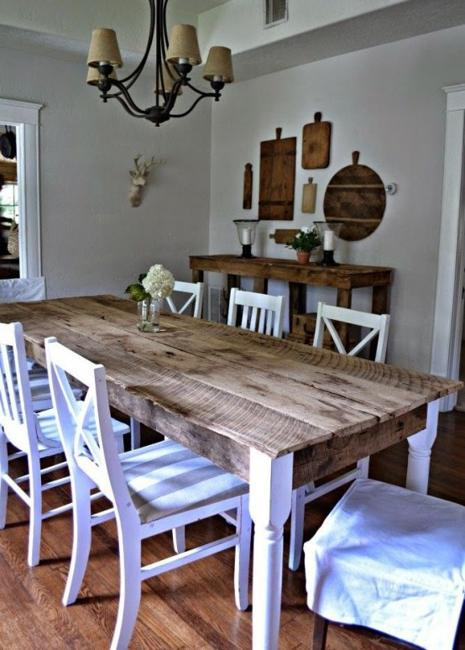 Modern Dining Room Design And Decorating In Vintage Style With Rustic Touch