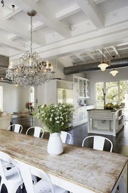 Dining Room Decorating With Vintage Furniture And Rustic Vibe