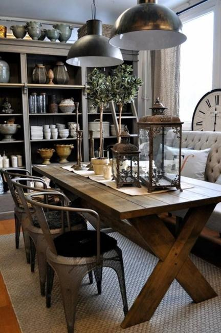 Wooden Furniture Dining Room Design And Decorating In Vintage Style