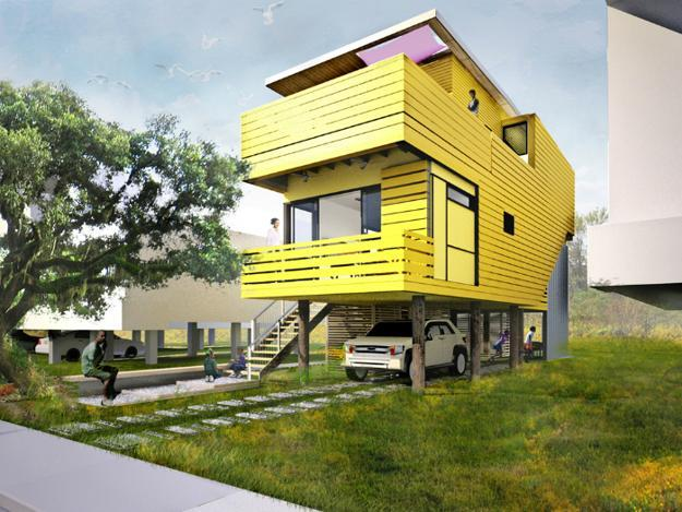 Bright exterior paint colors adding fun to house designs for Bright house design