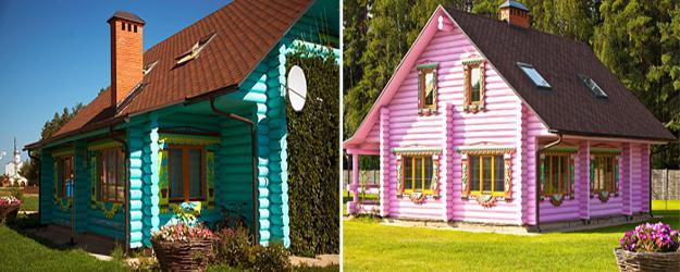 Bright exterior paint colors adding fun to house designs - Paint colors to make a room look brighter ...
