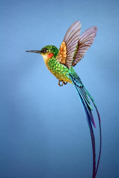 recycling crafts, birds sculptures