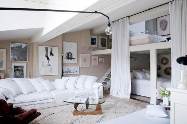 Modern Living Room Small Space: 20 Space Saving Loft Designs For Modern Small Rooms
