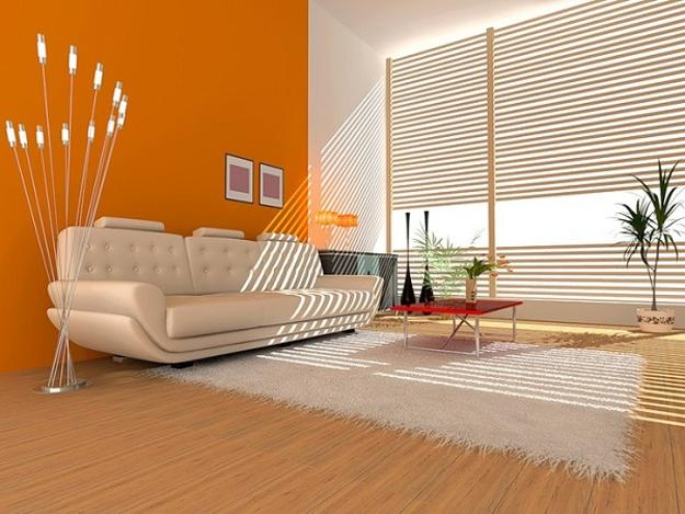 Orange Paint Color For Accent Wall Modern Ideas Bright Interior Design And Decorating