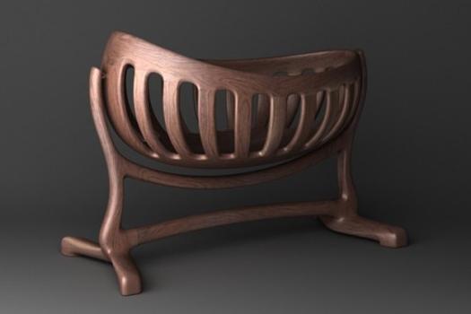 Solid Wood Baby Cradle Handmade Bed Design