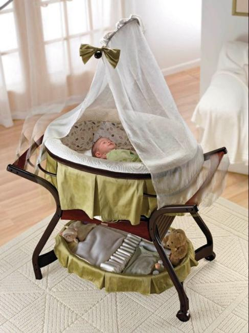 Wooden Baby Crib, Handmade Furniture Design For Modern Nursery Decor
