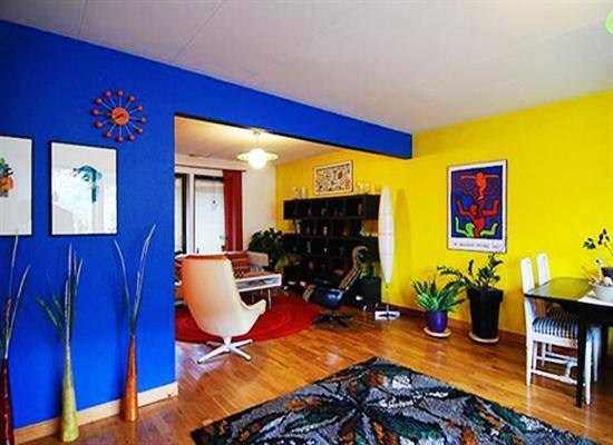 Bright Rooms Colors Rich Blue Yellow And Red For Living Room Decorating