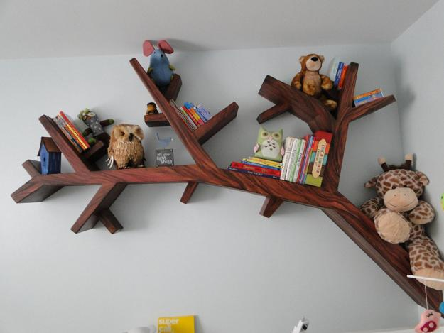 Wooden Shelves Inspired By Trees