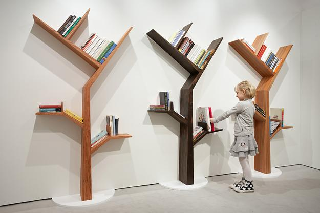 Book Trees Light And Dark Wood Furniture For Storage Organization