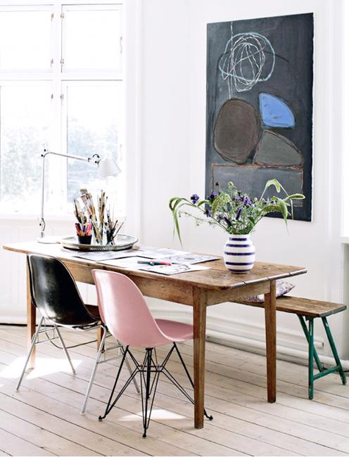 Eames Chairs Comfortable And Modern Interior Design With