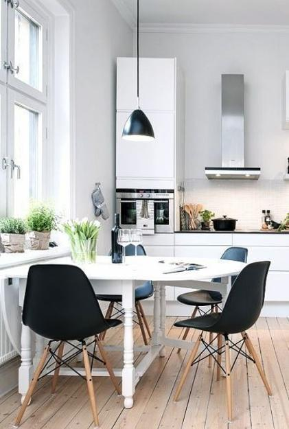 Kitchen Dining Interior Design: Eames Chairs, Comfortable And Modern Interior Design With