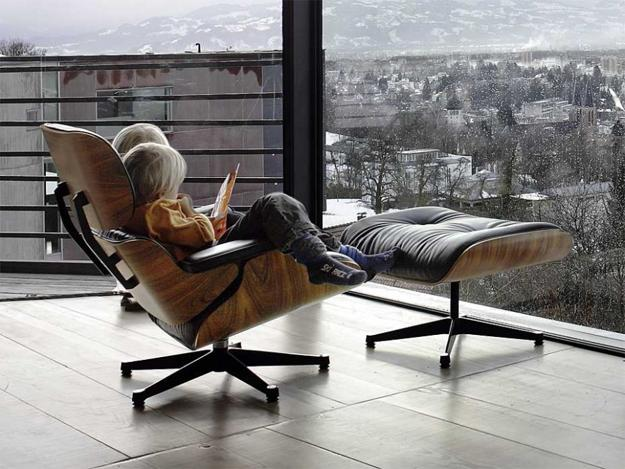 Eames chairs comfortable and modern interior design with designer
