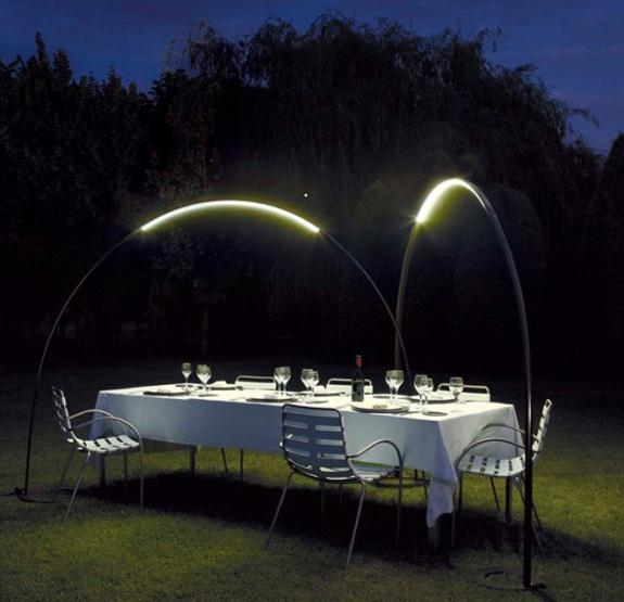 modern lighting fixtures for outdoor seating areas