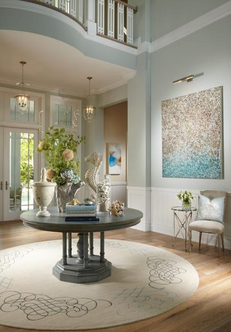 Traditional Living Room Paint Colors: Light Blue Color Combinations Perfect For Soft And Cool