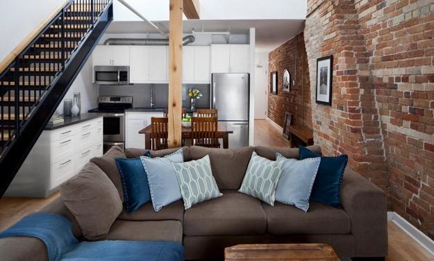 cool brown blue living room designs