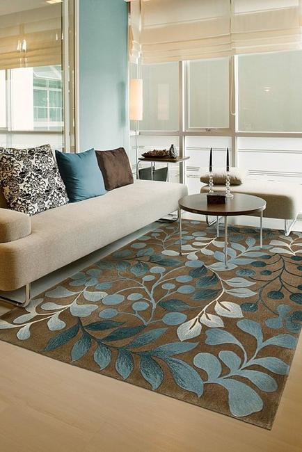 Brown Colors And Light Blue Color Design Modern Interiors