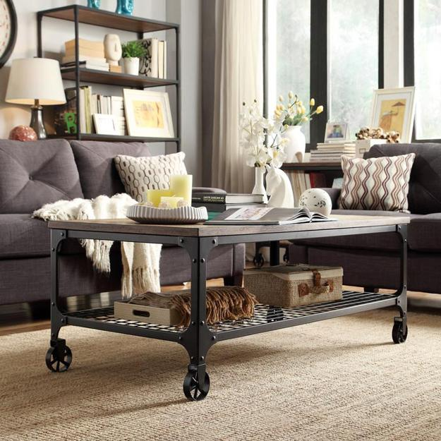 Modern Interior Design With Coffee Tables On Wheels