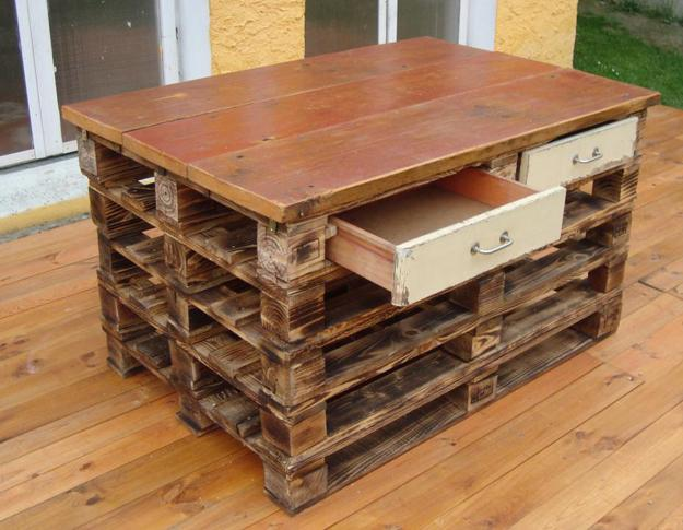 Recycling wood pallets for building everything in your home for Pallet house plans of i beam design