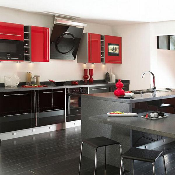 25 Modern Ideas To Make Kitchen Design Dynamic And Unique With Red Color