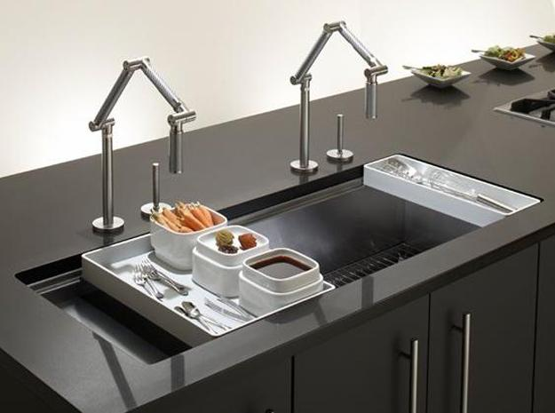 kitchen sink design in various materials and styles