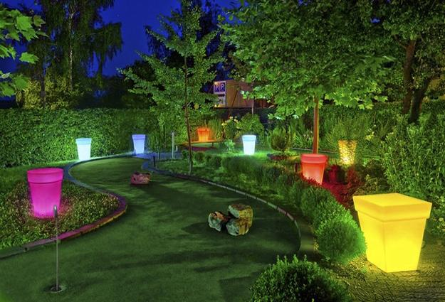 Colorful Outdoor Lights For Garden Design And Yard Landscaping