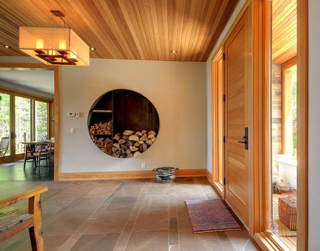 How Go4cork Helps You With Creative Interiors: Creative Interior Design With Wood, 25 Firewood Storage