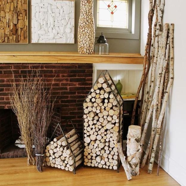Creative Interior Design With Wood, 25 Firewood Storage