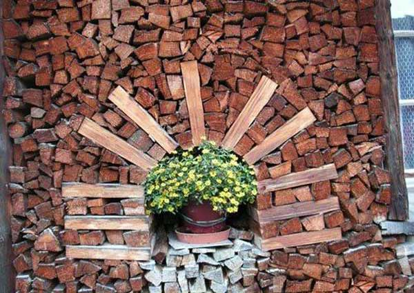 creative firewood storage ideas turning wood into beautiful yard decorations