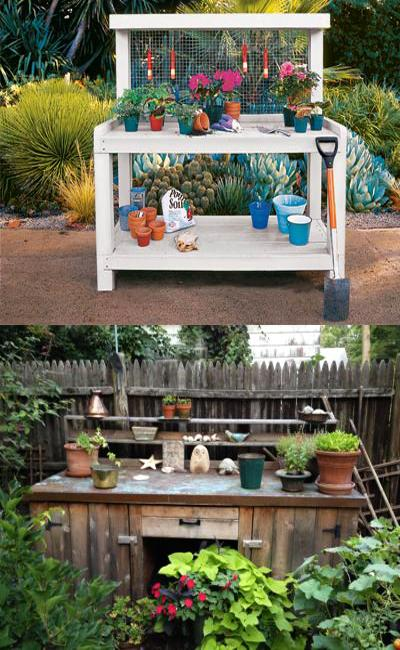 Outdoor Bench Decorating Ideas