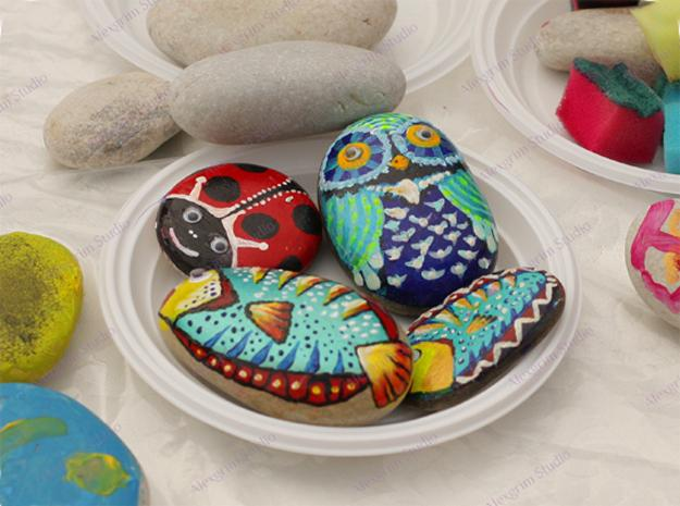 rock painting ideas and designs for garden decorations