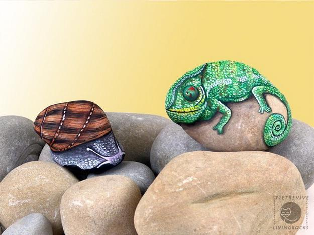 21 Rockpainting Ideas To Create Bright Accents For Garden Design And