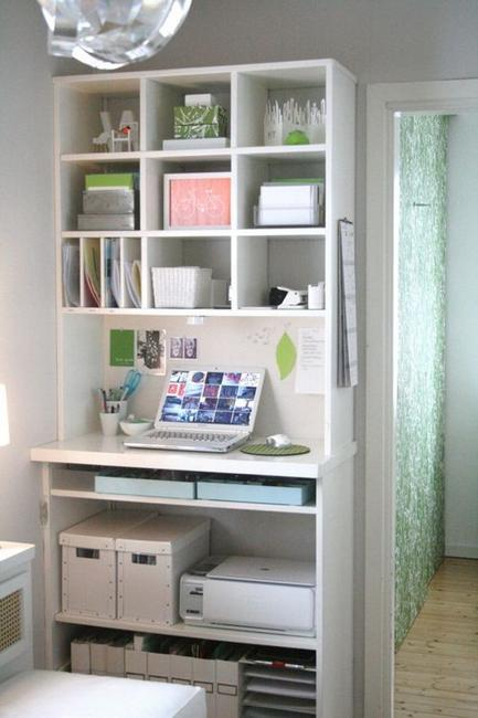22 space saving storage ideas for elegant small home - Creating a small home office ...