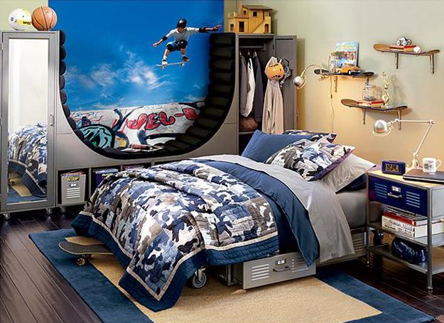 22 teenage bedroom designs modern ideas for cool boys - Cool things for boys room ...
