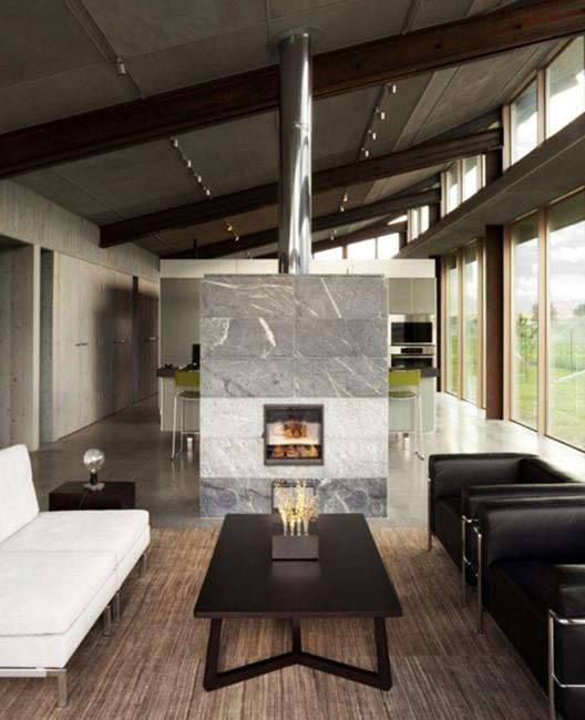 21 Most Unique Wood Home Decor Ideas: 25 Two Sided Modern Fireplaces Working As Beautiful Room