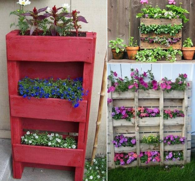 miniature garden design ideas to reuse and recycle wood pallets
