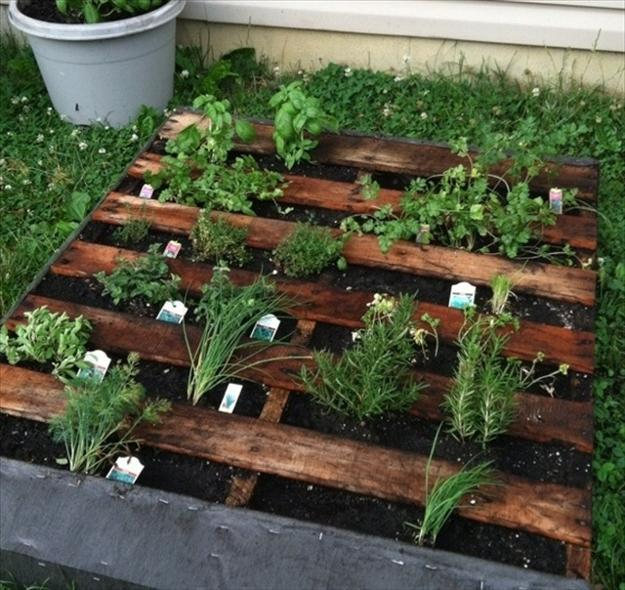 Vertical Herb Garden Ideas: 30 Mini Garden Design Ideas Recycling Wood Pallets