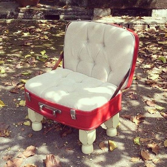 Beautiful Retro Modern Chairs Made With Old Suitcases