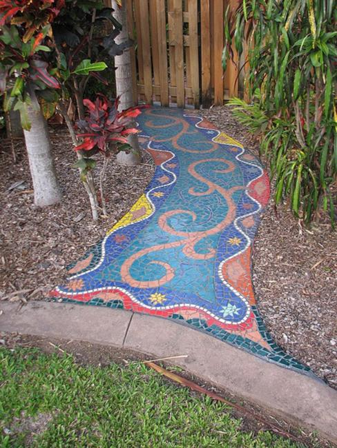 garden path designs and yard landscaping ideas