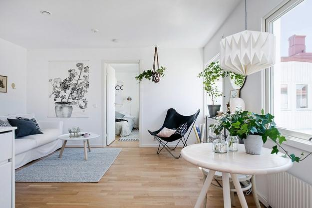 white paint colors for decorating small Scandinavian homes