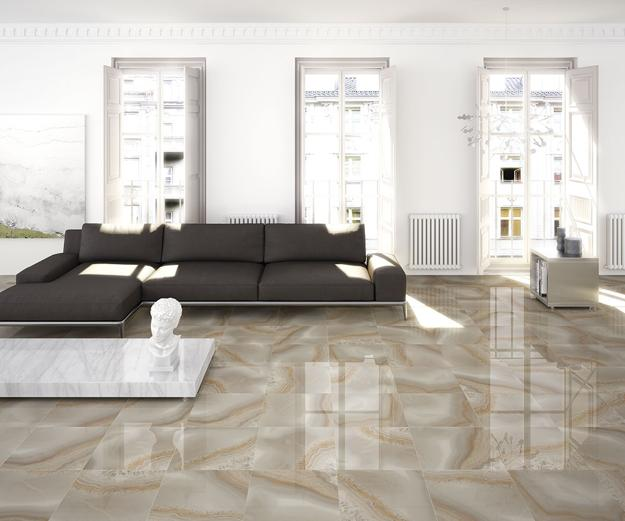 Modern Living Room Flooring Ideas: Modern Ceramic Tile Designs Creating Practical And