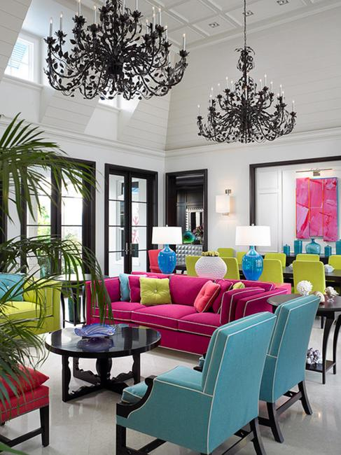 22 creative ways to add color to modern interior design and decor