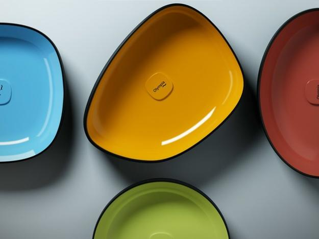 colorful bathroom sinks in various shapes