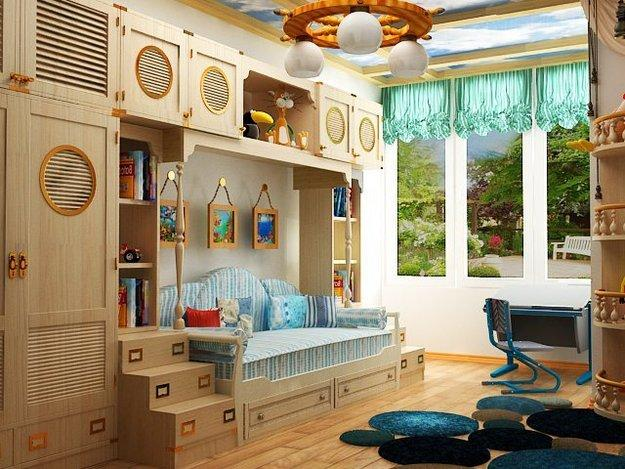 Amazing Unique Kids Room Furniture And Storage Ideas, Creative Ceiling Design And  Nautical Decor Ideas