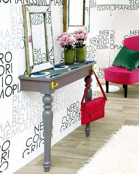 DIY Console Table With A Mirror, Handmade Furniture Design Idea