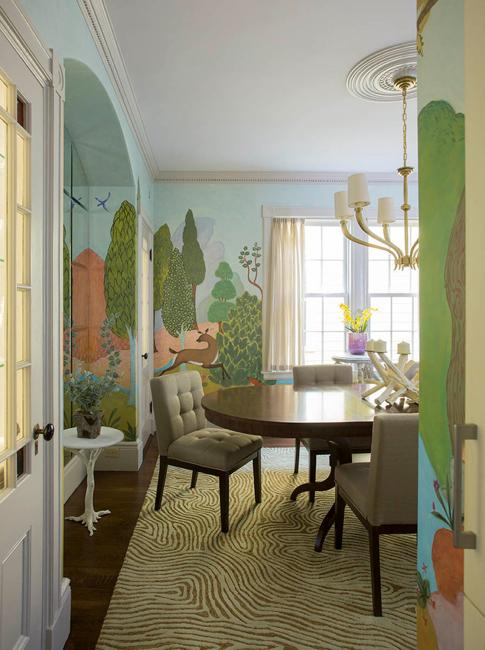 Modern Interior Design With Fresco Wall Murals Inspired By