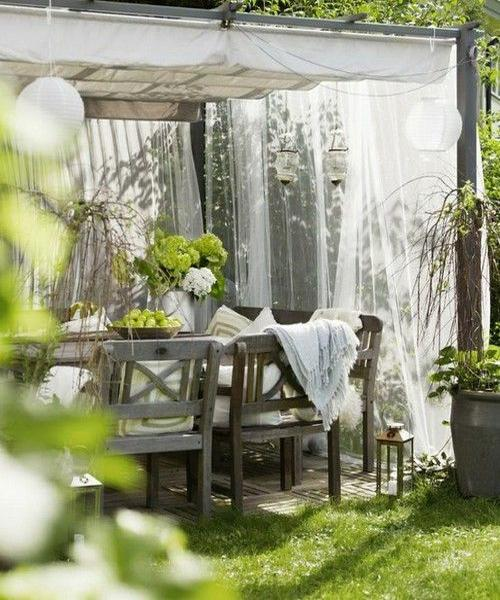 Beautiful Summer Decorating With Mosquito Nets Improving Pergola And Gazebo Designs
