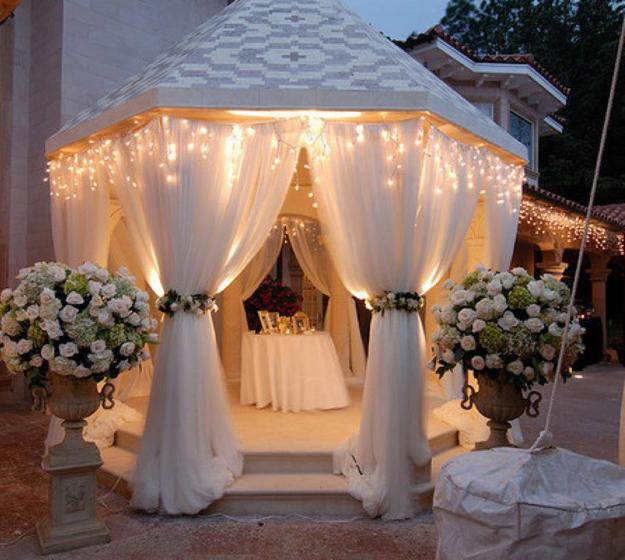 summer decorating with mosquito nets, garden pergolas and gazebo designs