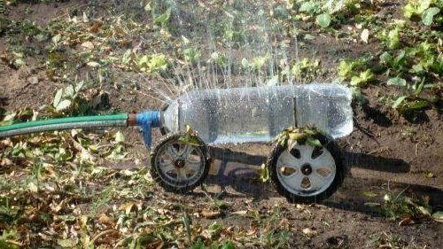 Turning Plastic Bottles Into Water Sprinklers For Green Lawns And Flower Beds